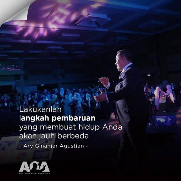 Quotes Ary Ginanjar Agustian,Lakukanlah langkah pembaruan yang membuat hidup Anda akan jauh berbeda